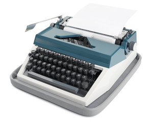 Typewriter with paper