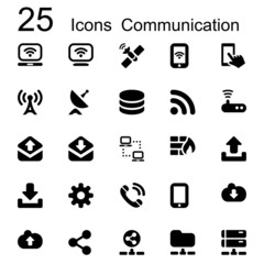 25 basic iconset communication