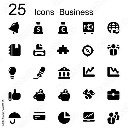 25 basic iconset business