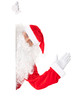 Santa Claus waving with blank sign