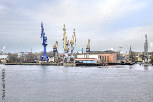 Port of city Saint Petersburg