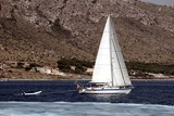 Sailing boat in close to Alicante coast
