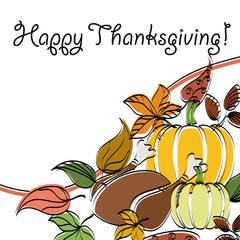 Abstract thanksgiving text frame