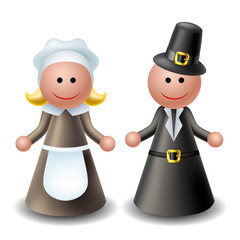 3d thanksgiving pilgrim characters