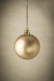 Gold Glitter Christmas Bauble