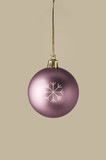 Damson Christmas Bauble with Glittery Snowflake