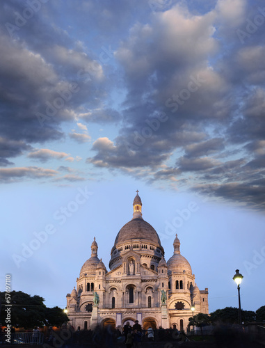 Sacre Coeur Basilica in Paris, France