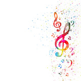 Fototapety music note background, easy editable