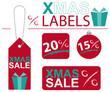 Anhänger Label Weihnachten X-Mas