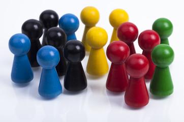 Farbige Spielfiguren