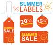 Angebotsschilder Sommer Sale SSV