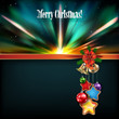Abstract Christmas background with handbells