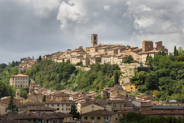 Panorama of Colle di Val d'Elsa, the city of crystal, Tuscany