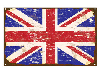 UK Flag Enamel Sign