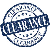 Clearance grunge blue round scratched stamp