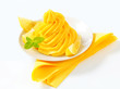 Swirl of yellow cream