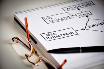 Risk management data flow on white paper