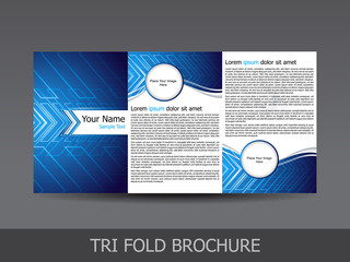 abstract tri fold brochure template