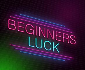 Beginners luck concept.