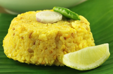 Bengali cuisine of rice and lentils named as Khichuri
