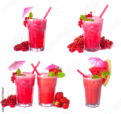 juice collection, currant, strawberry