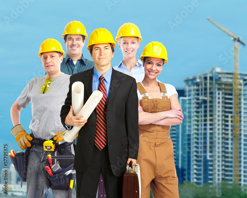 Group of construction workers.
