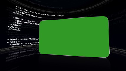 HTML Room, with Green Screen Monitor and Alpha Channel