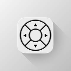 Technology White Joystick App Icon