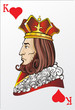 King of heart. Deck romantic graphics cards