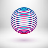 Abstract colorful sphere