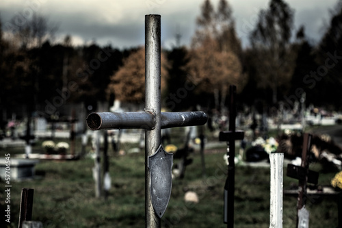 Cross at cemetery