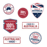 Australian stamps and badges