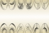 Fototapety trendy fashion  shoes.  Fashionable Hand drawn illustration.