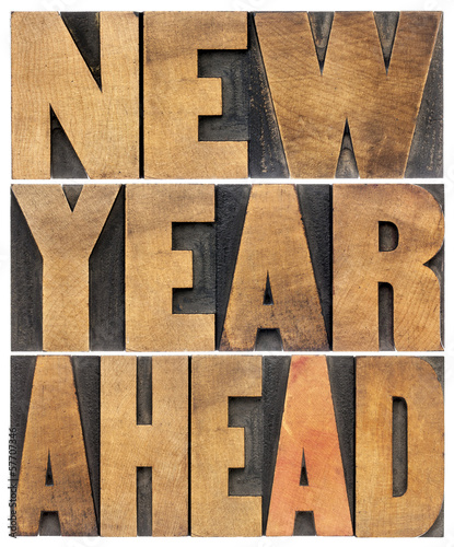 new year ahead in wood type