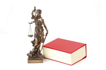 Justizia mit Gesetzbuch