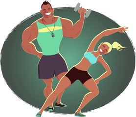 Fitness instructor and personal trainer