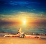 Fototapety woman on the beach