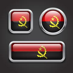 Angola  flag glass buttons