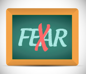 no more fear illustration design