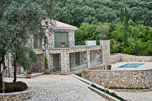Mediterranean villa with pool in olive yard