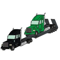 transporter truck vector illustration