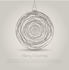Christmas ball on white background