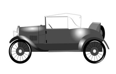 1920s roadster with rumble seat