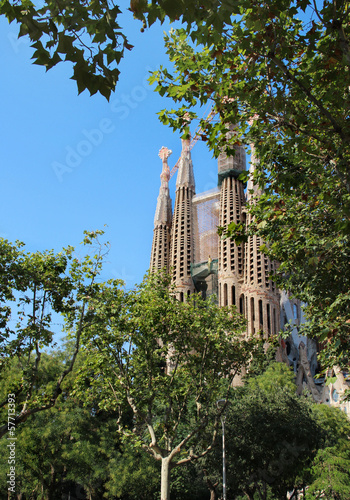 Sagrada familia in Barcelona, Cataloni, Spain