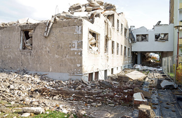 Abriss eines Wohnhauses