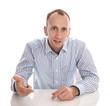 Mann als Verkäufer isoliert im Hemd - Fachmann