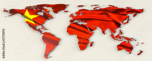 China World Map 3D