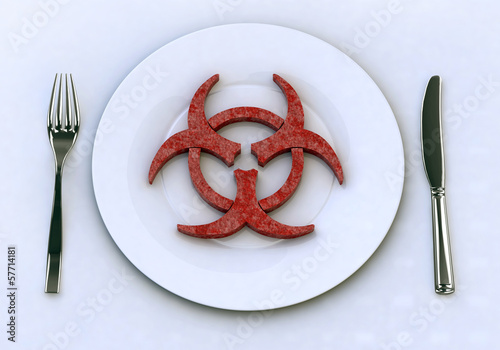 dangerous food into plate concepts