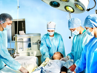 Group of surgeon in operating room.