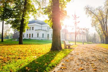 Park on a sunny autumn day